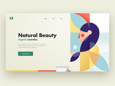 NatruralBeauty minimalist design web illustration ux ui vector illustraion landing page geometry