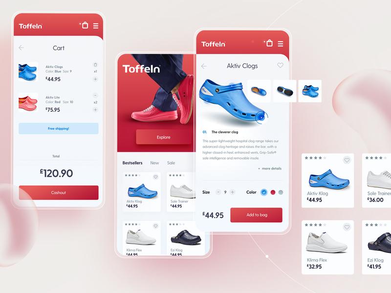 Toffeln app ecommerce app design ui ux