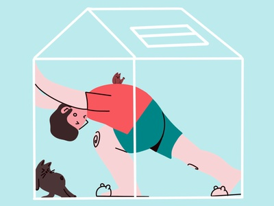 Need space procreate art design drawing stay safe stayhome quarantine home cat art photoshop procreate illustration