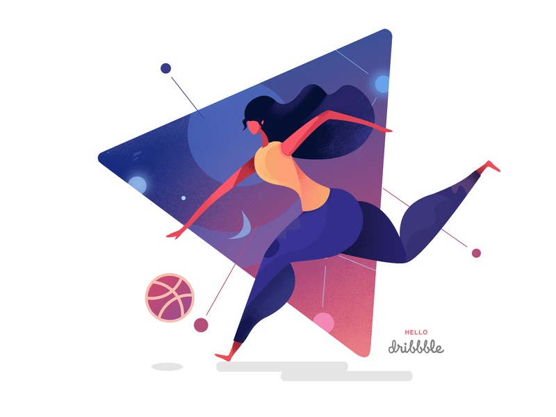 Hello dribbble 图标 ui 设计 hello dribbble 插画 invites illustration first shot