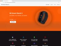 Mi Smart Band 4 Landing Page UI