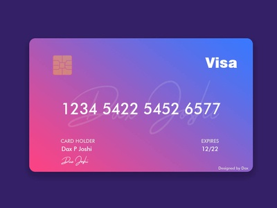 Visa Credit Card Design