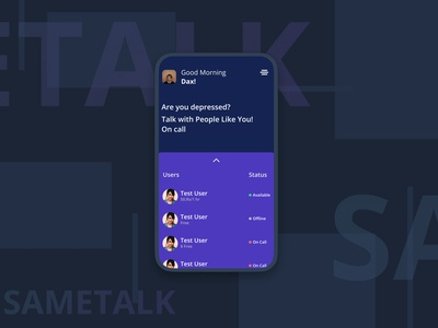 SameTalk App Dark Mode