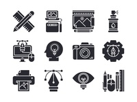 Graphic Design Icons system icon solid glyph symbol button icon bundle graphic design icon a day web icon set app vector ux ui icon