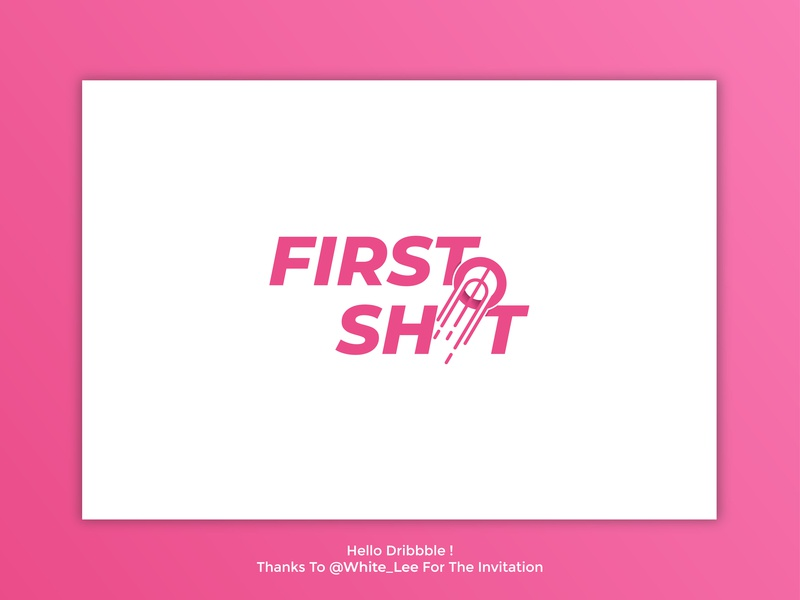 First Shot Logo Design basket identity shooting minimalist illustrator illustration pink modern logo typeface shot logo simple logo logos clever logo logo first shot dribbble invite dribbble debut debut dribbble