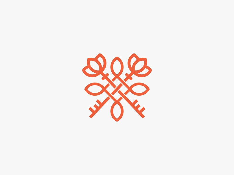 Lotus Key Logo beautiful logo girl feminine flower ecommerce mark illustration identity type brand branding graphic design vector modern logos logo clever logo clever key lotus