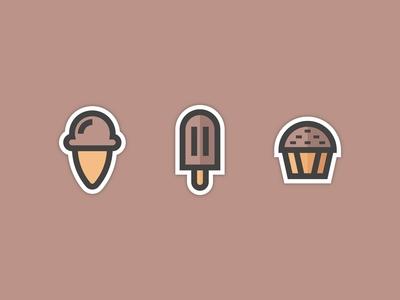 Ice Cream and Dessert Icons