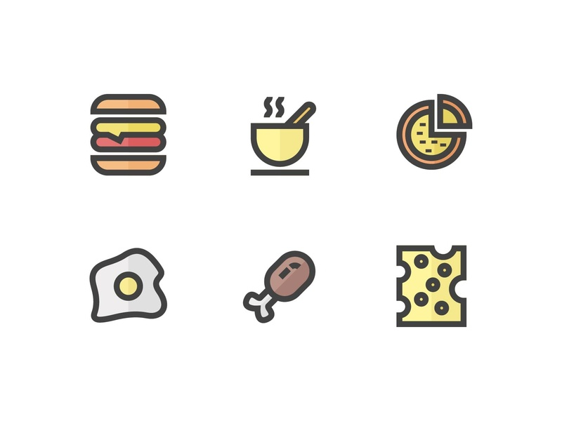 Food and Beverages Icons user experience userinterface graphicdesign beverages food icon set symbol button icon a day icon app web logo app ux minimalist ui icon modern design vector