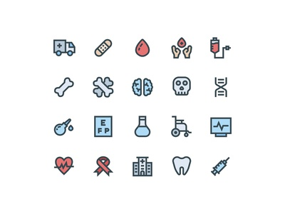 Medical Icons (Filled Line)