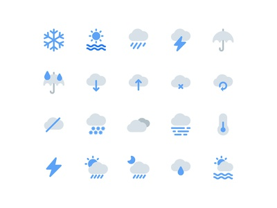 Weather Icons (Flat Style)