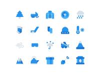 Free Winter Icons (Flat)