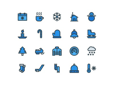 Winter Icons (Filled Line)