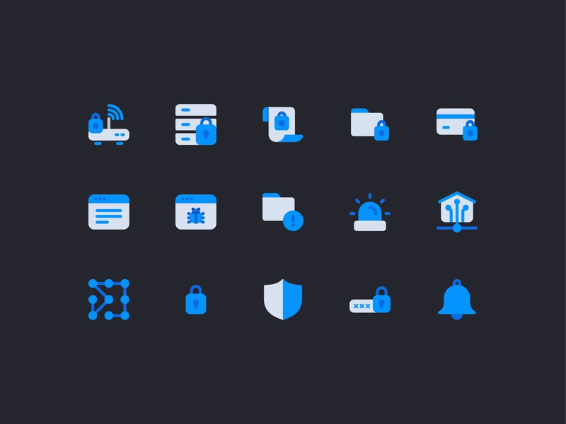 Internet & Security Icons (Free Download) icon bundle illustrator icon pack security internet icongraphy icon a day graphic design app web icon set vector ux icon ui flat icon freebies free fo commercial use free download freebie