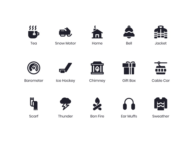 Winter Icons winter icon design iconography glyphs icon solid outline line minimalist icon bundle icon app icon a day app graphic design web modern icon set vector ux icon ui