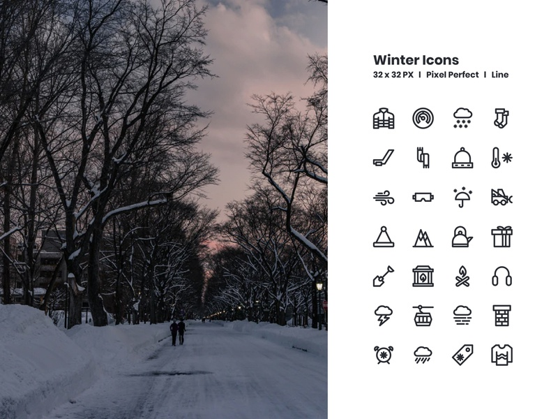 Winter Icons freebies app icon icon artwork icon design iconography line outlines outline icon bundle icon app icon a day app graphic design web modern icon set vector ux icon ui