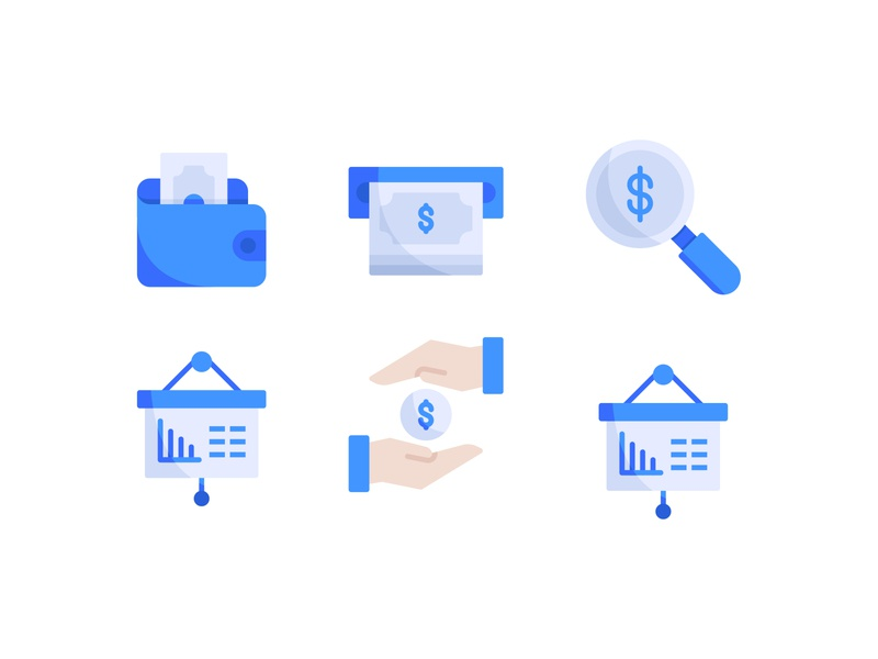 Business & Finance Icons logo finance user interface business symbol button flat illustration flat icon flat design illustration icon a day graphic design web modern app icon set vector ux ui icon