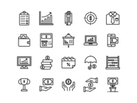 business & finance icons (Line)