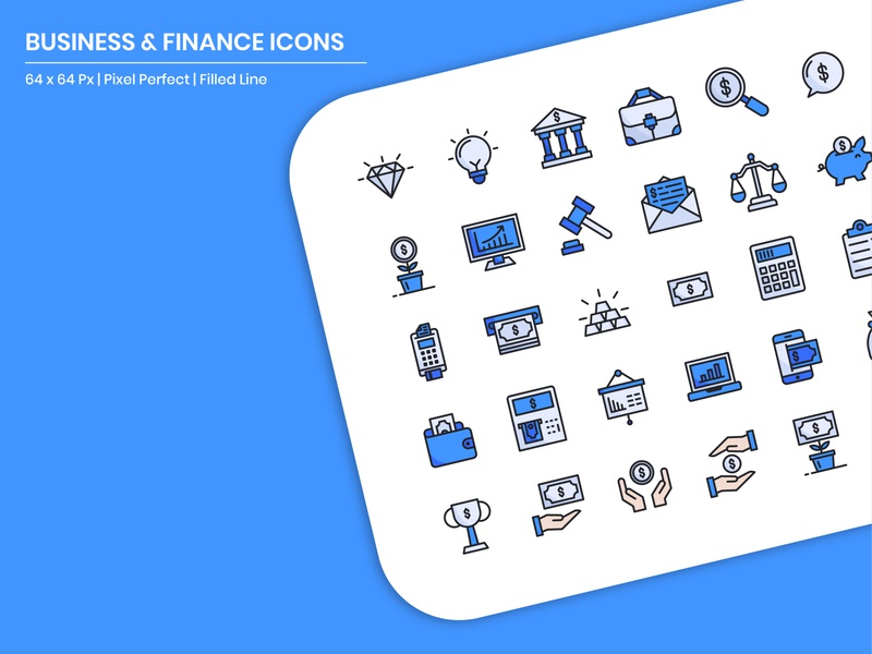 Business & Finance Icons business iconography illustration icon pack flaticon filled outline filled line mbe style user experience user interface icon a day graphic design web modern app icon set vector ux ui icon