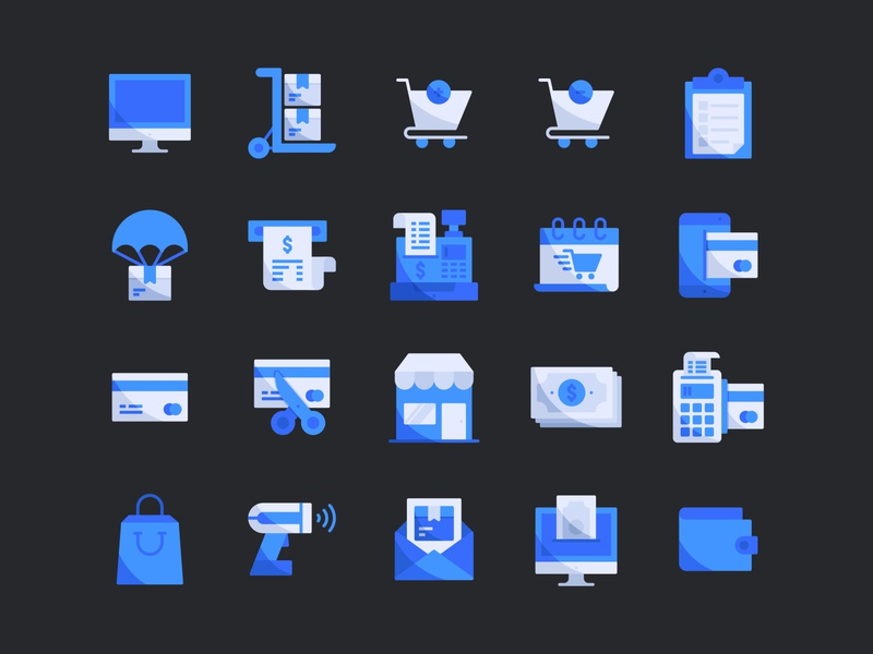 Ecommerce (Flat Icon) material design flat icons iconography icon design logo interface user ecommerce app vector illustration graphic design icon a day icon app ux ui icon icon set flat icon flat design ecommerce