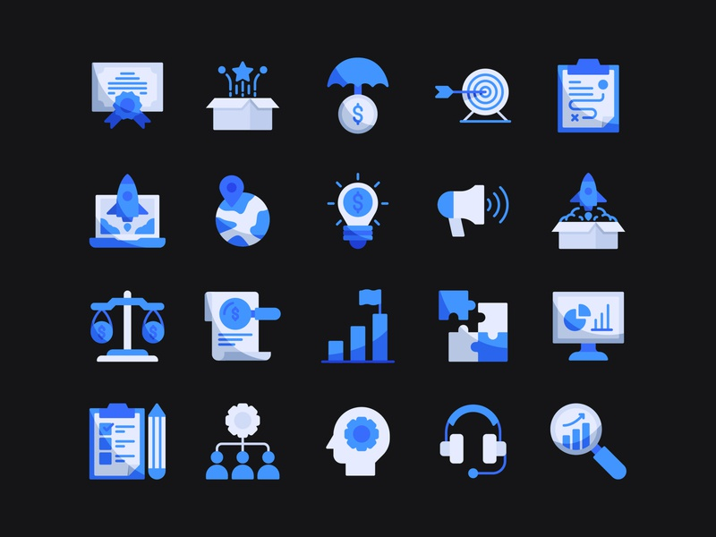 Business & Strategy Icons pixel perfect iconset iconography icon pack flat icon flat design vector logo user interface icon app ui ux web illustration app icon a day graphic design icons strategy business