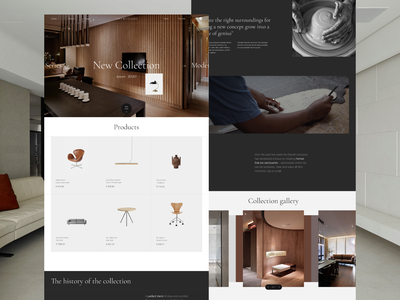 Furniture — online store concept online store interior furniture website design web ux ui concept inteface