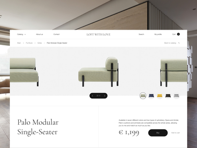 Furniture — online store concept creative online store furniture design website web ui ux inteface concept