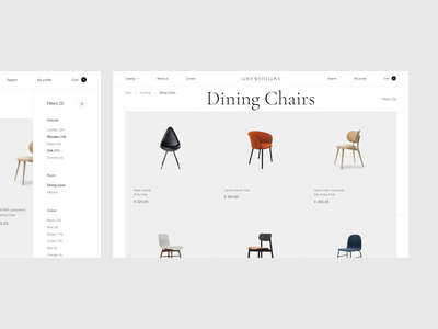 Furniture — online store concept desktope furniture inteface online store design website web ui ux concept