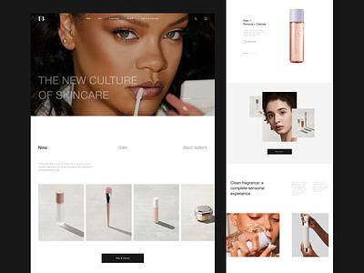 FENTY BEAUTY – 01 clean minimal minimalism desktope online store ux ui website web concept