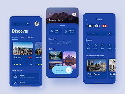 Travel Service Mobile App mobile app design tours discover app mobile app mobile travel app travel traveling concept design web ux ui inteface