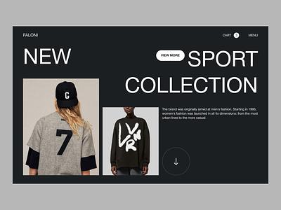 Fashion E-commerce Website shop uxdesign uidesign fashion design ecommerce design webdesign fashion ecommerce homepage creative desktope online store website concept ux ui web