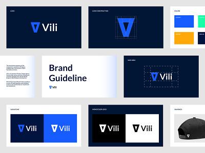 Vili Brand Identity Book agency logo design branding and identity branding design brand design visual identity visual book illustrator icon logo flat typography minimal branding design