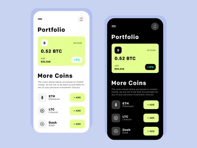 Crypto Exchange App - UI/UX Design crypto wallet cryptocurrency stocks bitcoin green cyan blue crypto exchange crypto currency crypto art app app design flat vector ux ui typography minimal design