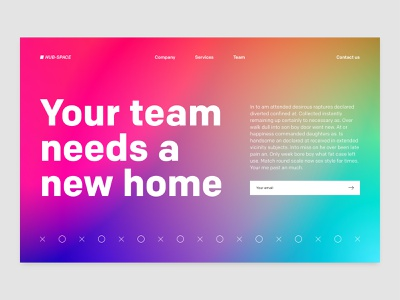 SaaS B2B Landing Page email white red pink blue gradient saas website saas design saas landing page landing b2b saas web flat typography minimal design