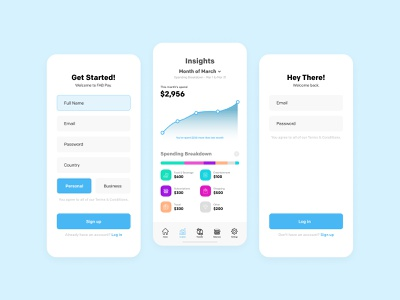 Banking App Onboarding Screen Designs | Vili app designers wallet app bank account bank ui app designer banking app bank app design vector app flat ux ui minimal design