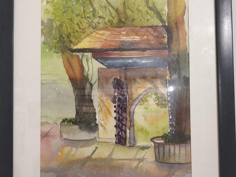 Painting In Frame painting drawing illustration color colors art watercolour landscape design artwork artist