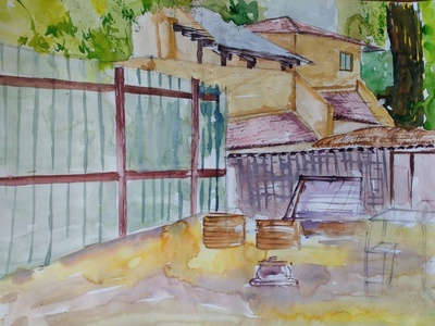 Watercolor On Catridge Sheet drawings drawingart draw watercolorpainting watercolor art watercolor colorful color artwork artlife artistic artist art painter paint painting