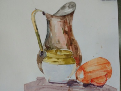 Still Life Drawing watercolour colors color painting