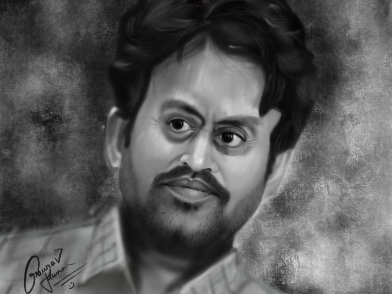 IRFAN KHAN ( Caricature ) digital illustration digital painting digitalart