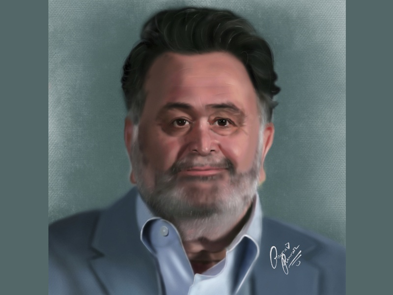 Portrait Of Rishikapoor art