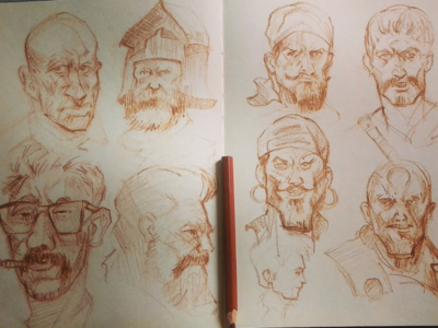 Quick Sketches sketching drawing characters