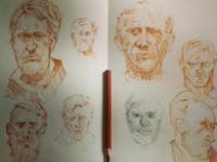 Just Random sketching drawing character