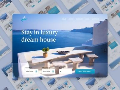 Houzez landing page mockup design material design illustration ux design free landing page ui web design landing page responsive design ui design