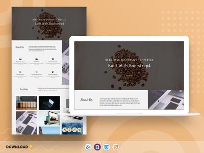 Slim Design Landing Page