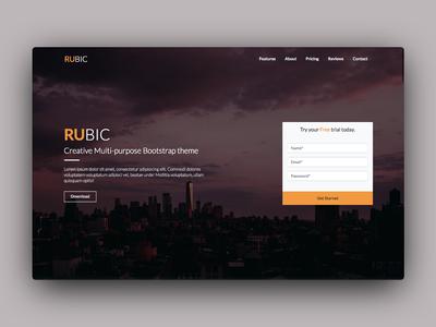 Rubic Landing Page
