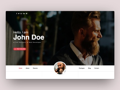 Modern Resume Bootstrap Template