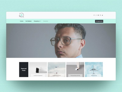 Blogging Bootstrap Template