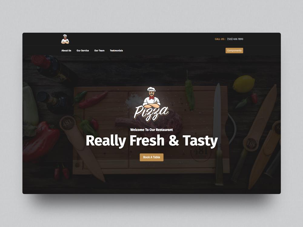 Pigga Bootstrap Restaurant Template By Web Creative Studio