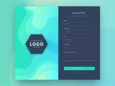 Registration Form With Dark UI