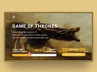 Game Of Thrones UI design