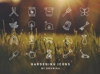 Gardening Icons by ARUNIKA